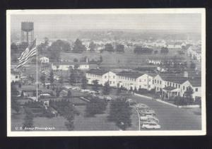U.S. ARMY PHOTOGRAPH CAMP KILMER NEW JERSEY BIRDSEYE VIEW VINTAGE POSTCARD