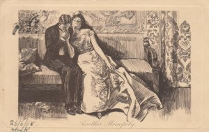 Another Monopoly, PU-1908; Man kissing woman's hand
