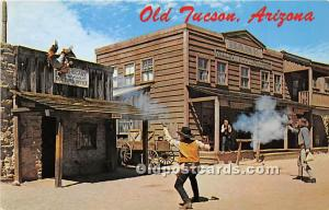 Old Tucson, Arizona, AZ, USA Postcard The Bank Holdup Unused