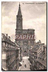 Old Postcard Strasbourg La Cathedrale