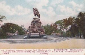 Washington Monument Fairmount Park Philadelphia Pennsylania