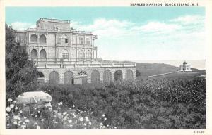 Block Island Rhode Island Searles Mansion Scenic View Vintage Postcard JD933868