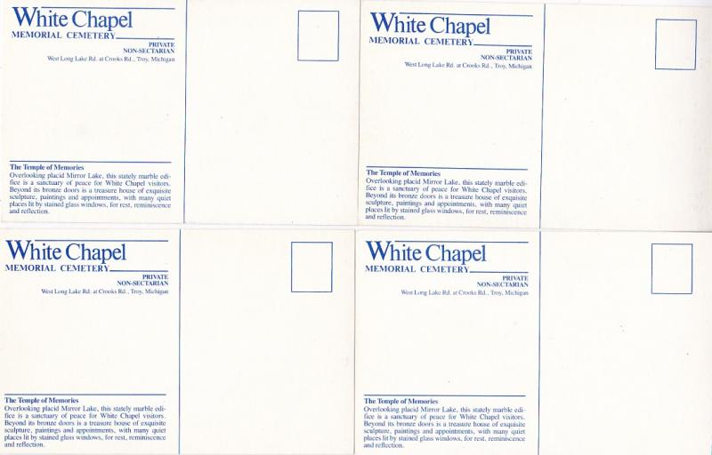 0166 Grabbag Auction 4 Cemetery Postcards Starting At .99