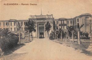 Egypt Alexandria Ramleh Casino Front view Postcard