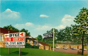 Hardy Arkansas~Glen Roberts Motel & Real Estate Agency~1950s PC
