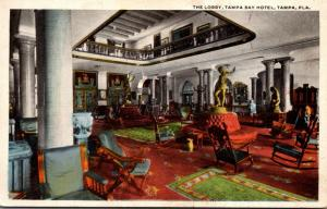 Florida Tampa The Lobby At Tampa Bay Hotel 1923 Curteich
