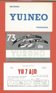 QSL AMATEUR RADIO CARDS – YUGOSLAVIA – 3 DIFFERENT CARDS – 1979-1981 (1)