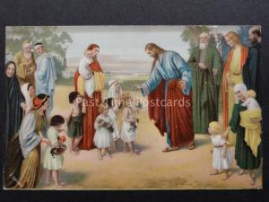 Religious: JESUS & Little Children - Old Postcard