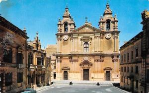 Malta The Cathedral Mdina Front view Dom Cattedrale Auto Car