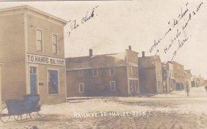 RP: HANLEY , Saskatchewan, Canada; 1907 ; Railway Street