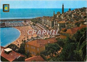 Postcard Moderne Menton General View of the old window