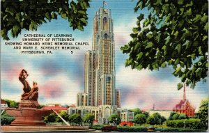Cathedral of Learning c1930's University of Pittsburgh, Pennsylvania