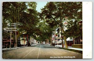 Norway Maine~Universalist Church~Close Telephone Poles~Trolley Tracks~c1905