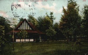 Kokomo, Indiana, IN, View in City Park, Divided Back Vintage Postcard g8318