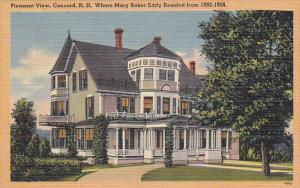 New Hampshire Concord Pleasant View Mary Baker Eddy Residence