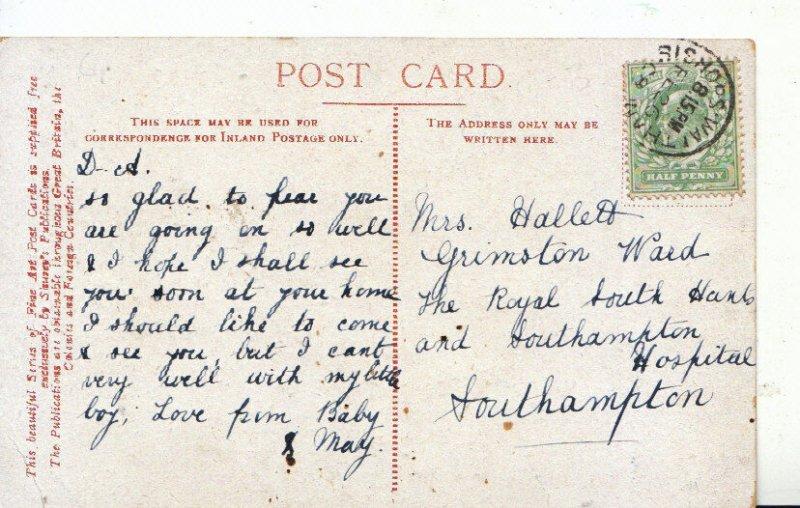 Genealogy Postcard - Hallett - Royal South Hants & Southampton Hospital - 4242A