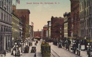 Trolley on South Salina Street - Syracuse NY, New York - DB