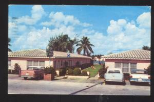 FORT LAUDERDALE FLORIDA PALM TERRACE APARTMENTS 1950's CARS VINTAGE POSTCARD