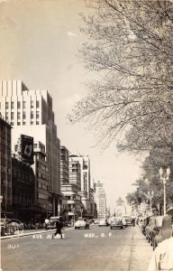 Mexico City Mexico~Avenida Juarez~Street Scene~Cigarette Ad~1940s RPPC