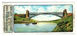 Levensau High Bridge, Kiel, Germany, Berliner Morgenpost Trade Card *VT29A