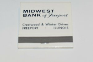 Midwest Bank of Freeport Illinois 30 Strike Matchbook
