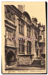 Old Postcard Bourges hotel lallemant western fa?ade