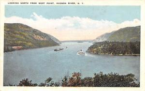 Looking North West Point, New York Postcard
