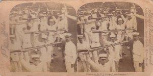 SV: Marines on deck of U.S. Protected Cruiser SAN FRANCISCO , 1899