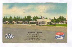 Sunset Lodge, Abilene, Texas, PU-1948