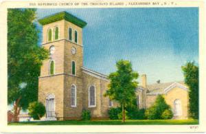 Reformed Church, Alexandria Bay, NY, New York State, Linen