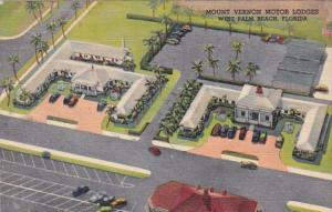 Florida West Palm Beach Mount Vernon Motor Lodges 1950 Curteich