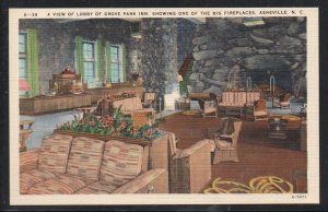 North Carolina colour Lobby Grove Park Inn, Asheville, N.C unused