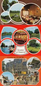Groeten Nit Tilburg Holland Restaurant 3x Postcard s