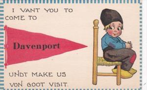 Iowa Davenport I Vant You To Come Pennant Series