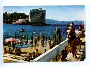 196771 TURKEY ISTANBUL plaj of Tarabya and Hotel postcard