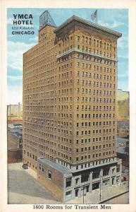 Chicago Illinois~YMCA Hotel @ 822 South Wabash Avenue~1920s Postcard