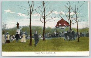 Galena Illinois~Grant Park Crowd Gathered~Photographer~Camera on Tripod~1908