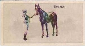 Wills Vintage Cigarette Card New Zealand Race Horses 1928 No 45 Degage