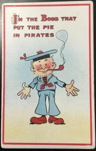 "Vintage Postcard Unused ""I'm the Boob that put the Pie in Pirate"" LB"