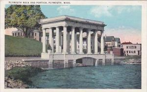 Plymouth Rock And Portico Plymouth Massachusetts