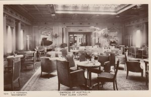 RP: EMPRESS of AUSTRALIA , First Class Lounge 1910s
