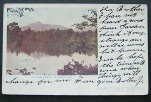 Chocorua From Chocorua Lake 1906 C B Webster & Co UDB