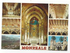 Italy Sicily Monreale Multiview Cathedral Vtg Postcard 4X6