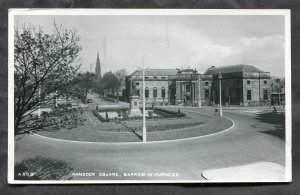dc388 - BARROW England 1956 Ramsden Square. Real Photo Postcard