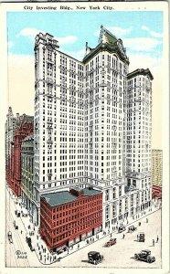 City Investing Bldg. New York City Vintage Postcard Standard View Card