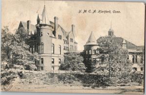 Y.M.C.A. Building, Hartford Connecticut Undivided Back Vintage Postcard N22
