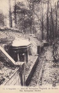 The Kronprinz Shelter, L'Argonne, France, 1900-1910s