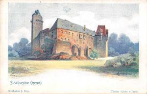 Strakonice Czech Republic Hrad Castle Exterior Scenic View Postcard J64024
