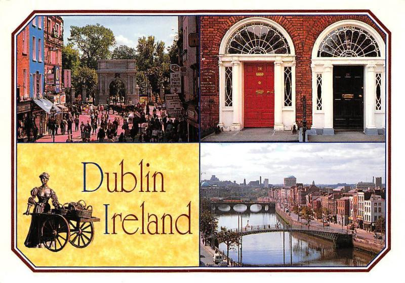 Dublin Ireland Where Molly Malone Street Arch Bridges River Pont