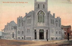 Hot Springs Arkansas Methodist Church Exterior Antique Postcard J78987
